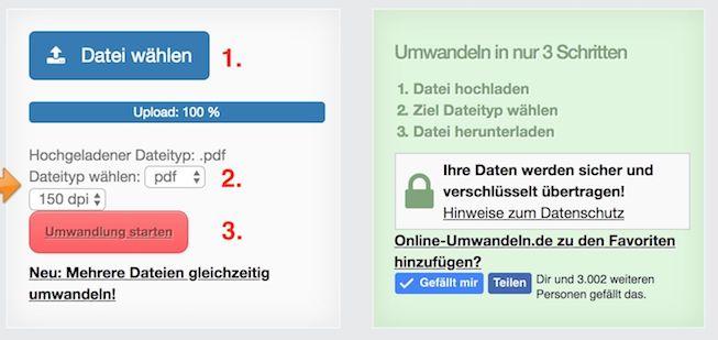 Anleitung PDF-Dateien online verkleinern