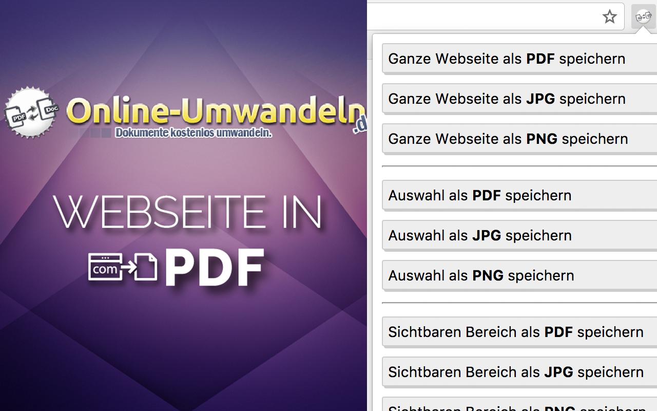 Website In Pdf Dateien Online Konvertieren