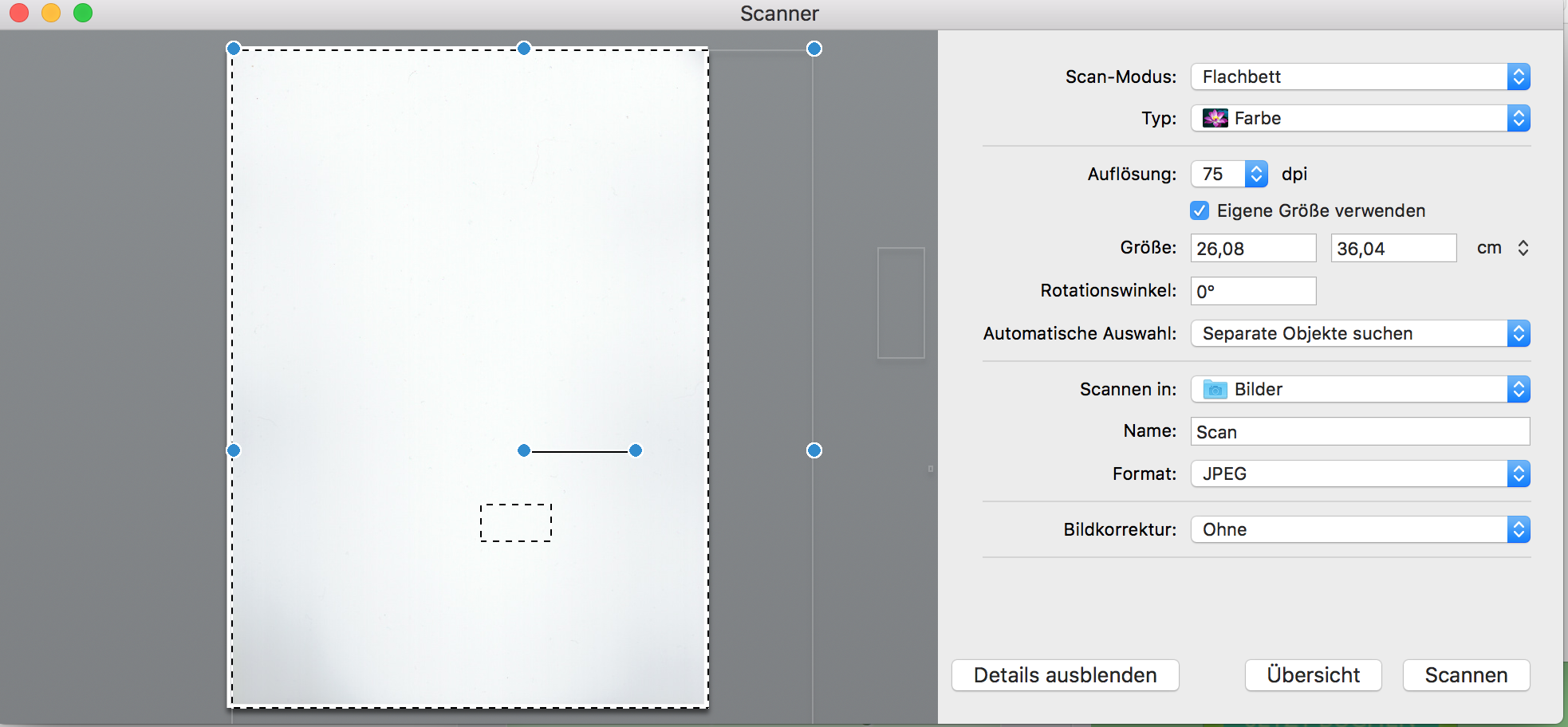 Dokumente einfach scannen - Mac OS X - Online-Umwandeln.de