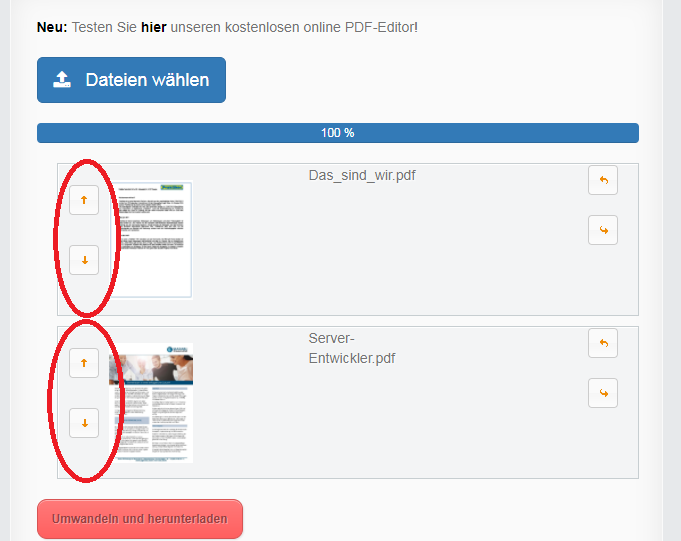 pdfs zusammenfügen online