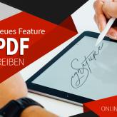 Neues Feature: PDF unterschreiben